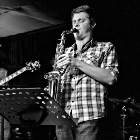 Justin Bellairs on Alto Saxophone